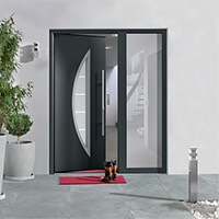 Striking contemporary style in anthracite