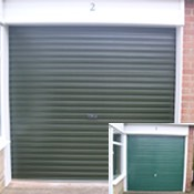 Steel Roller Garage Door Juniper Green – Before & After!