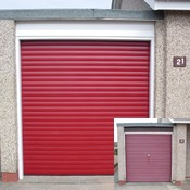 Burgundy Select Secure Insulated Roller Door – Before & After!