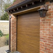 Insulated Sectional Door in Golden Oak