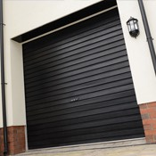 Steel roller garage door in white