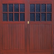 Brampton woodgrain GRP garage door