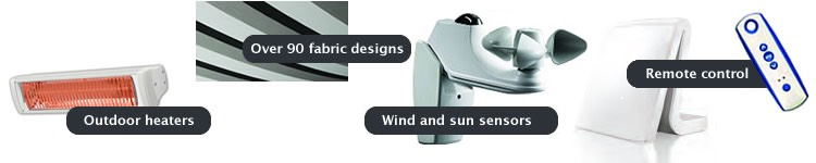 Remote control, wind and sun sensors
