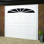 Alnwick woodgrain GRP garage door