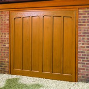 Hexman woodgrain GRP garage door