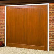 Morpeth woodgrain GRP garage door